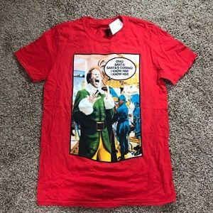 NWT Buddy The Elf Red Christmas T Shirt